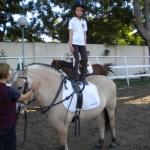 equilibrio sobre caballo