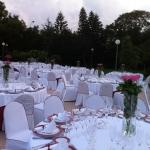 terraza flor rosa boda