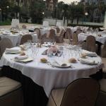 terraza boda mesas