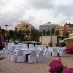 mesas flor rosa