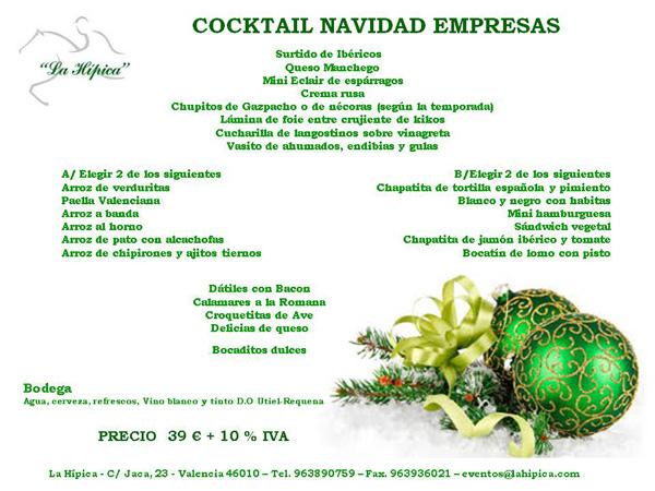 cocktail de navidad para empresas