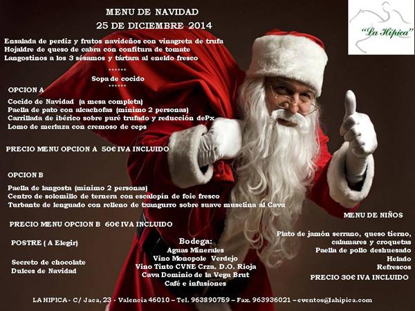 menú navidad 25 diciembre
