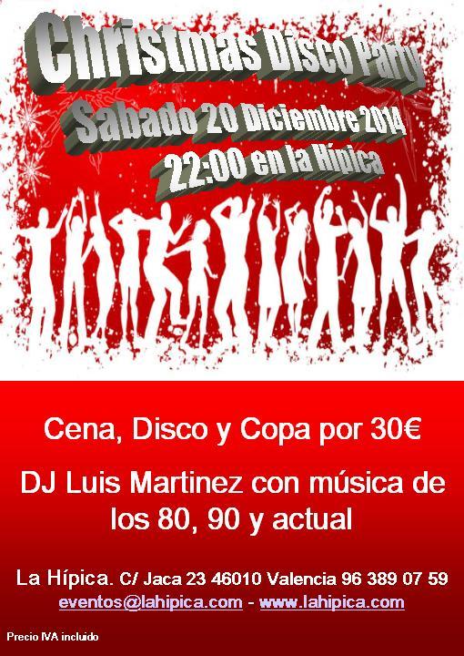 chrismas disco party la hipica