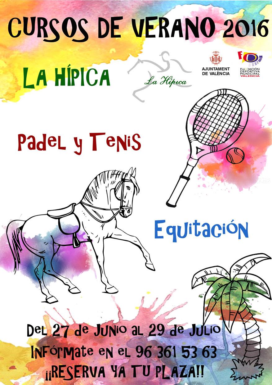 cursos verano la hípica equitación padel y tenis